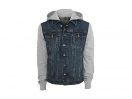 "Urban Classics Hooded Denim Fleece Jacket ""Denim Blue"""