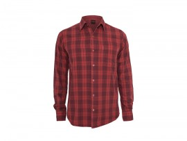 UC – Checked Garment Dye Shirt red