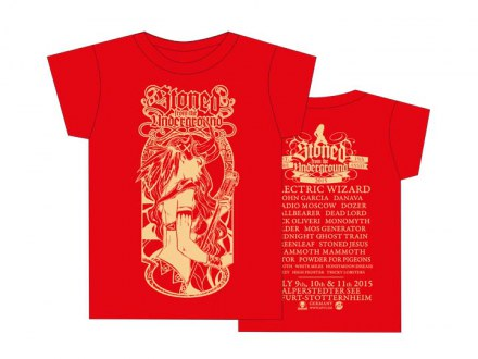 "Stoned from the Underground T-Shirt ""Girl red"" 2015"