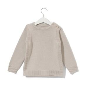 Sweterek szarobeżowy 001 | 002-W-SW-GBE | www.wooliesandco.pl | shop online