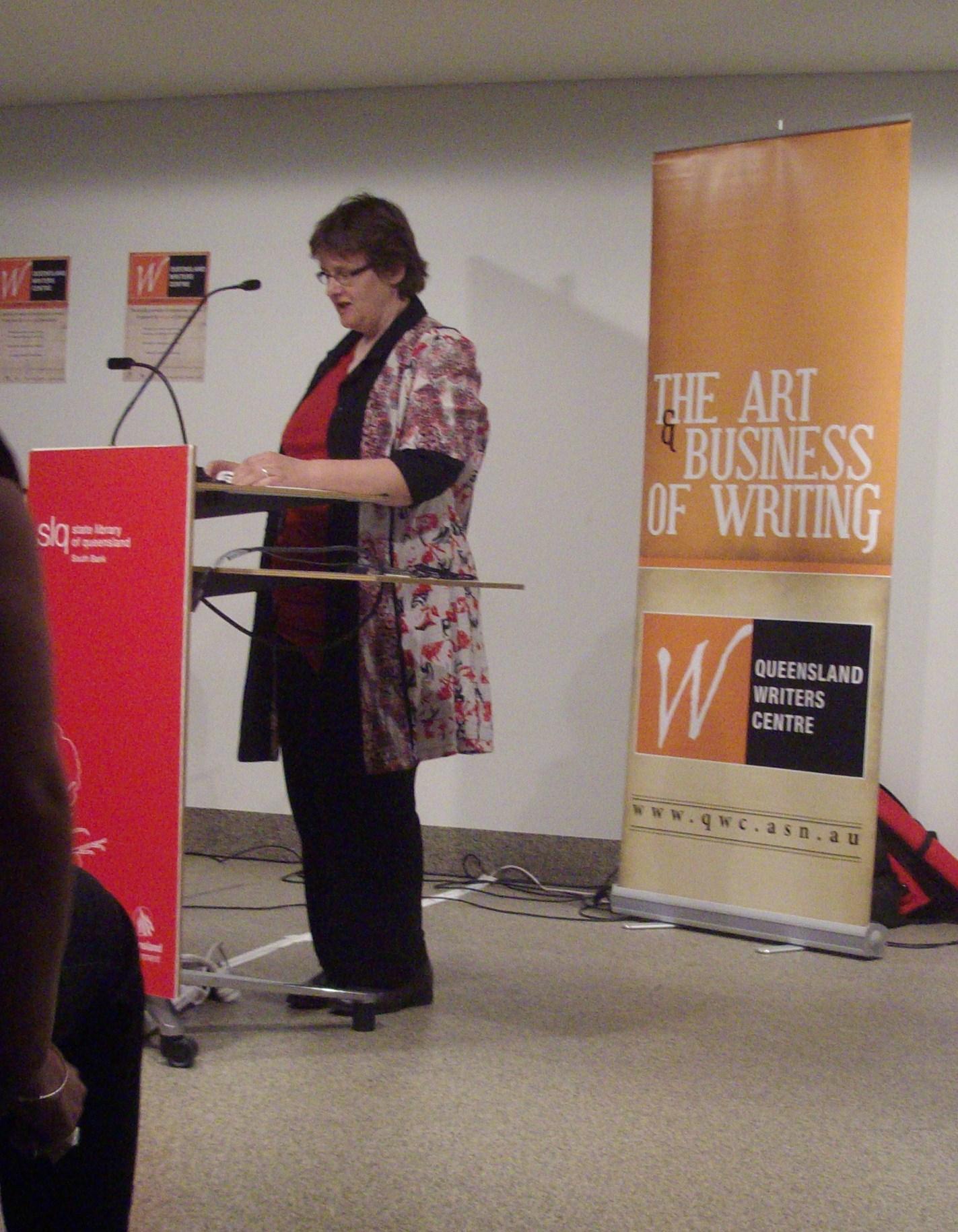 Margaret Simons talking at Wordpool: Derek Barry