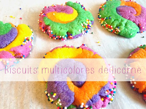 Biscuits multicolores de licorne