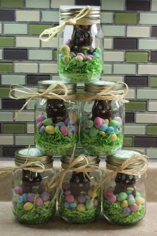 idées de Pâques en pot Mason wooloo