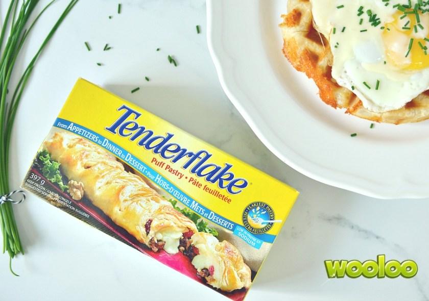Gaufre Bénédictine Tenderflake farcie au jambon & au fromage Wooloo