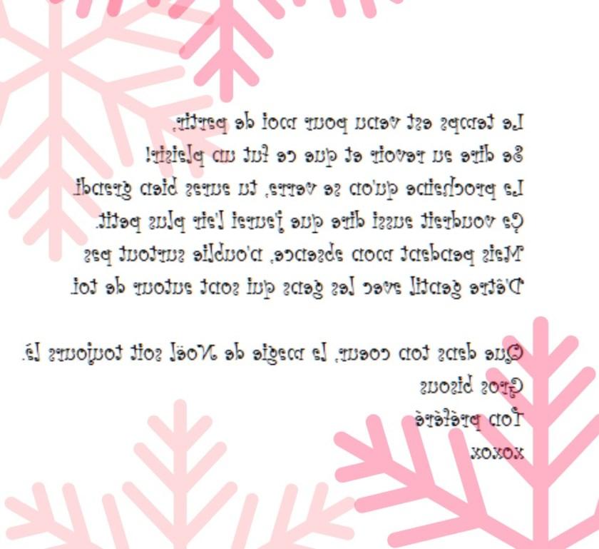 Lettre de départ du lutin de Noël wooloo