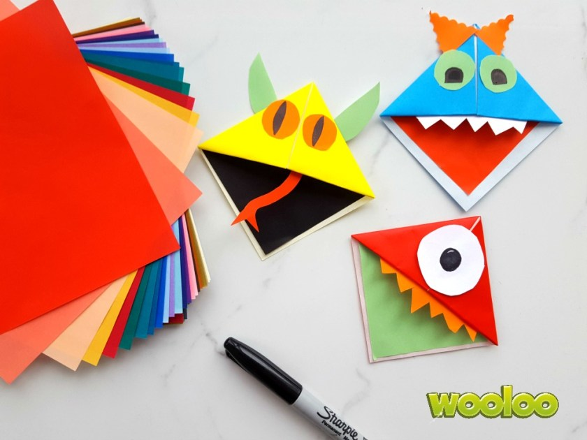 Signets origami en forme de monstre Wooloo