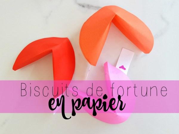 Biscuits de fortune en papier (Biscuit chinois)