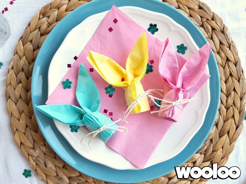 Des serviettes de papier en forme de Lapin