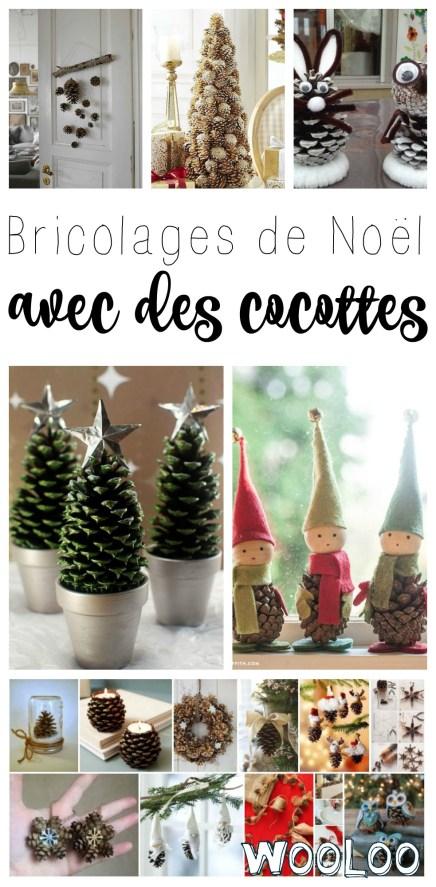 Bricolages de Noël avec des cocottes / wooloo