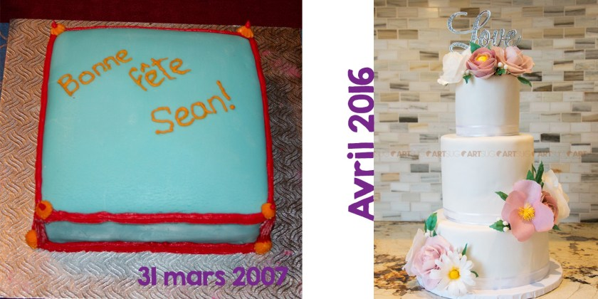 Évolution gâteau