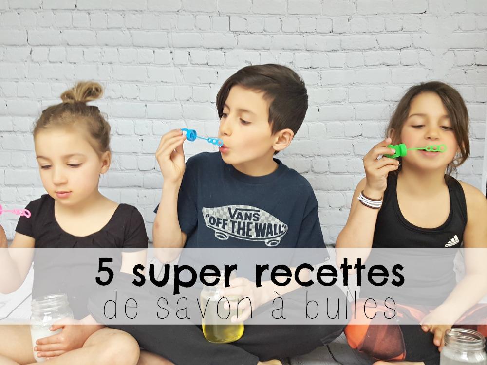 5 super recettes de savon à bulles DIY