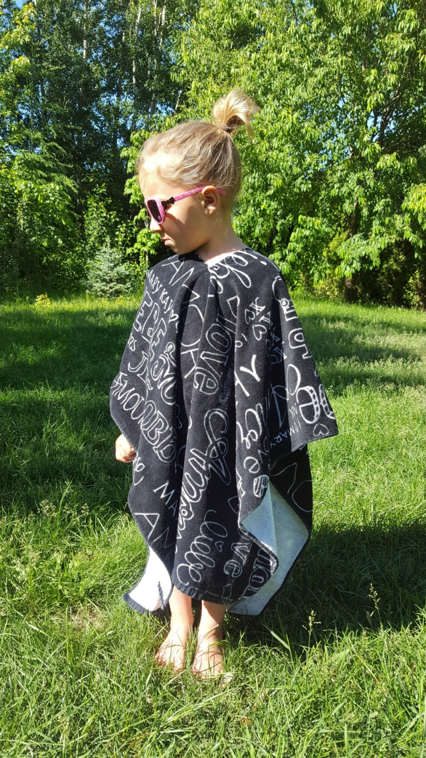 Serviette Poncho DIY wooloo