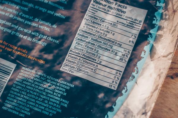 Tortillas faites de grains entiers