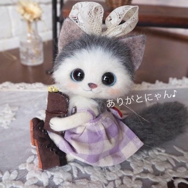【可愛】完美穿搭羊毛氈貓貓