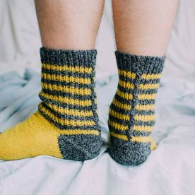 Anti-freeze socks. Image: Anna Maltz