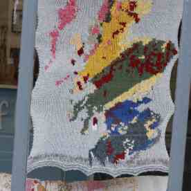 the knitted map of Scotland