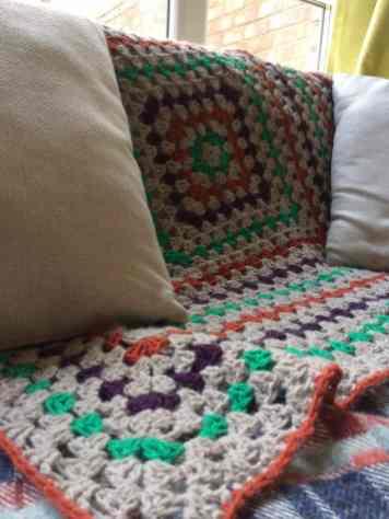 Crochet blanket in Aire Valley Aran