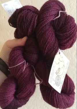 Hand-dyed British wool from Ginger Twist Yarn!