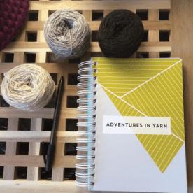My original Adventures in Yarn notebook