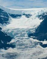 The Dome Glacier is one of the many 'minor' glaciers feed by the Columbia Icefield.