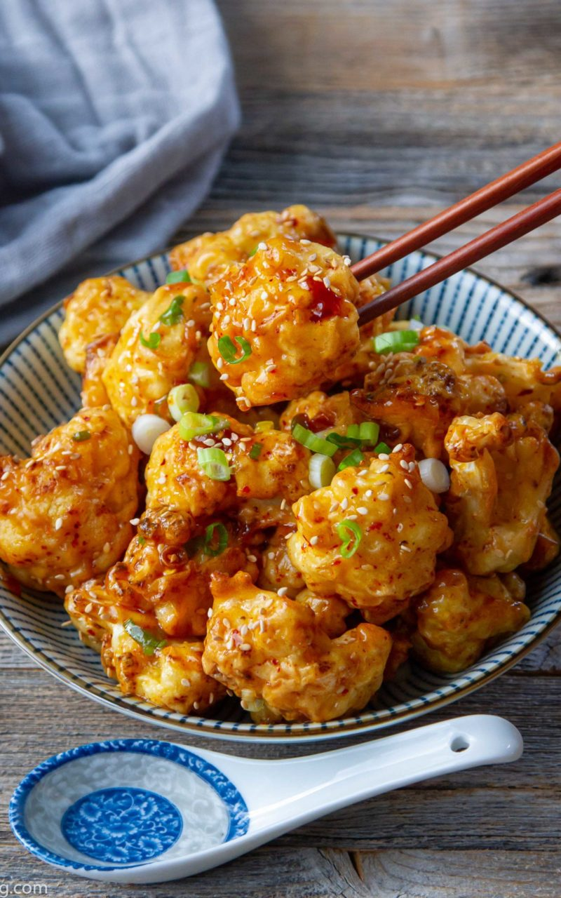 Spicy Orange Cauliflower Bites 辣橙花椰菜
