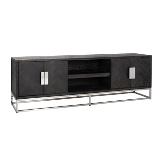 TV-dressoir Blackbone silver 4-deuren 185 (Zilver)