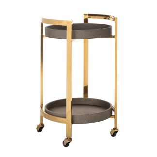Trolley Calesta rond shagreen look (Goud)