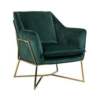 Fauteuil Aurelia Green velvet / gold (Quartz Green 501)