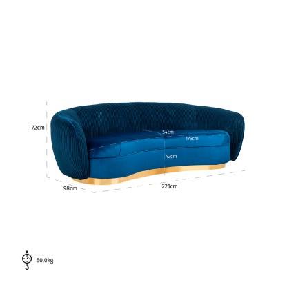 Bank Waylon Navy velvet + rib (Night Blue)