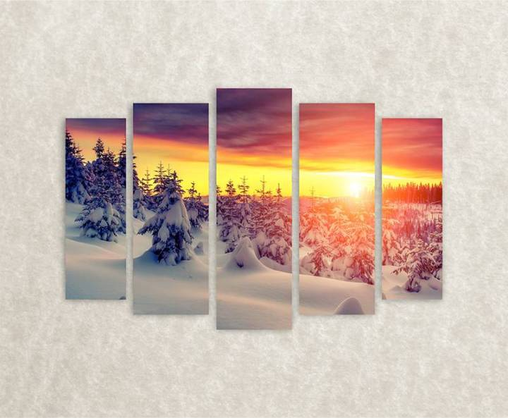 canvas-foto-winter-sun