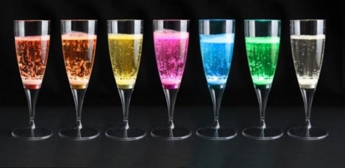 champagneglazen met led verlichting