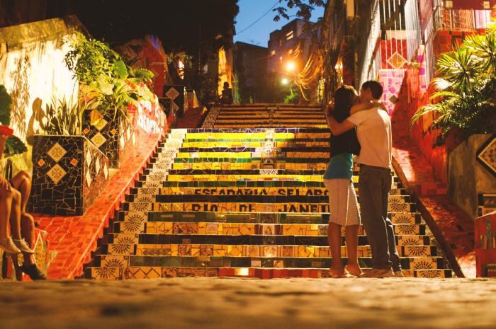 Color Blocking in Rio de Janeiro