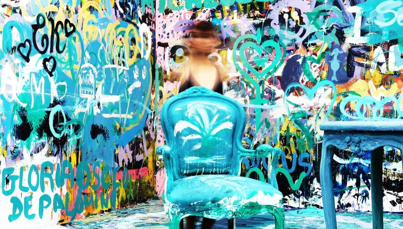 blauwe stoel