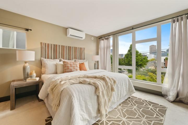 slaapkamer in natuurlijke kleuren