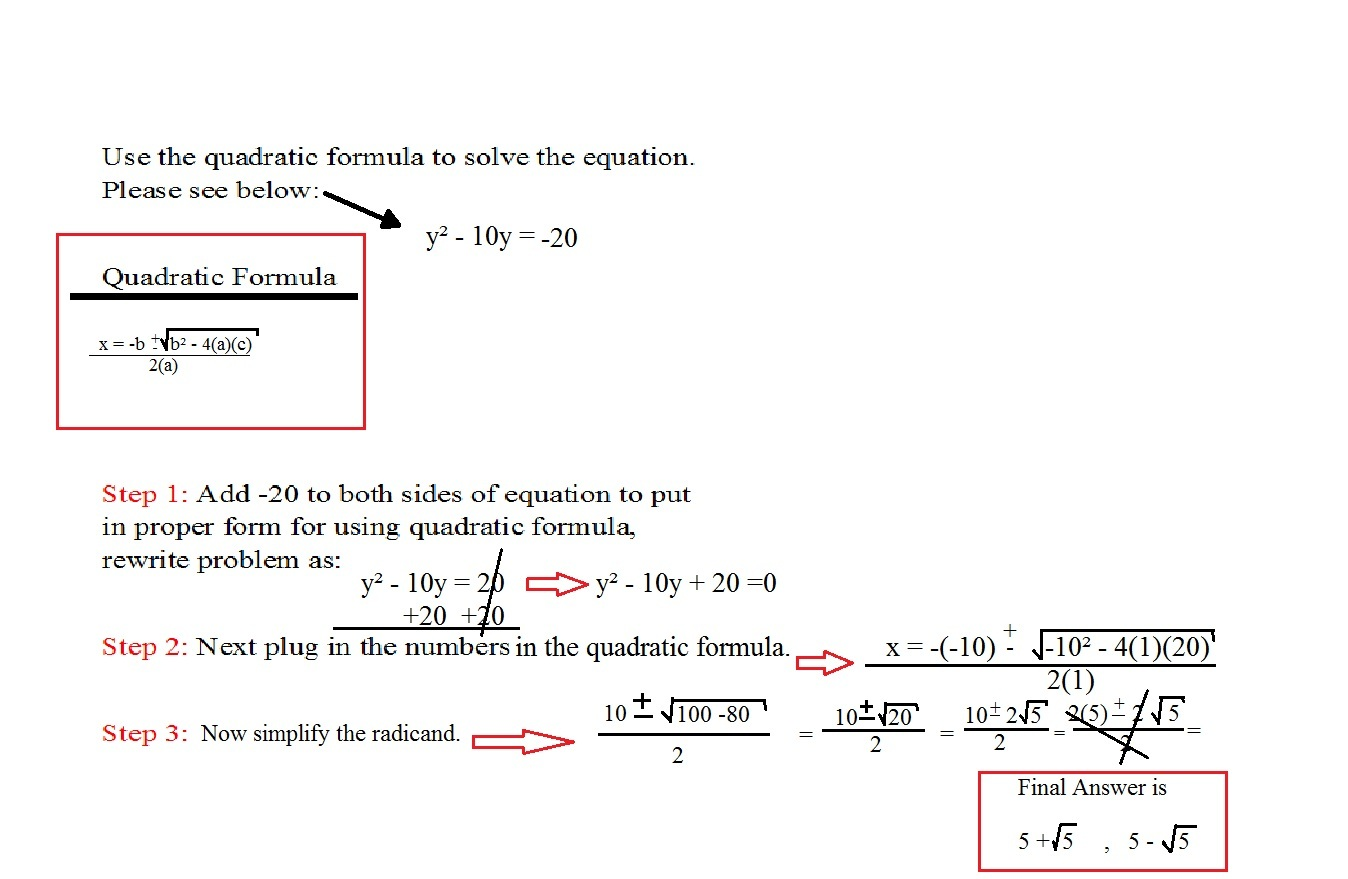 Step By Step Solving A Quadratic Equation Problem 2