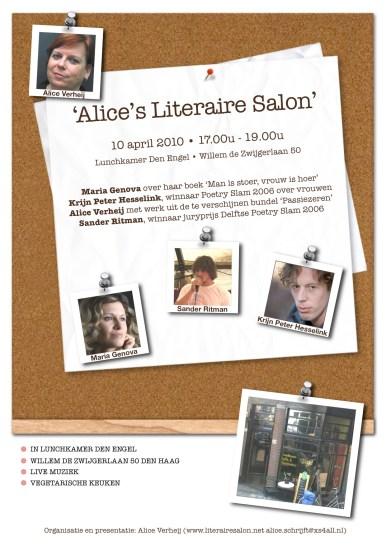 flyer literaire salon