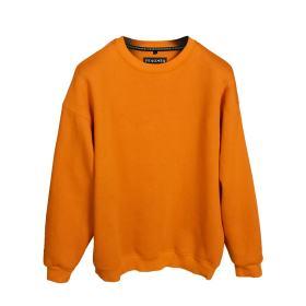 Sweatshirt Turuncu Renk Baskısız Oversize Unisex
