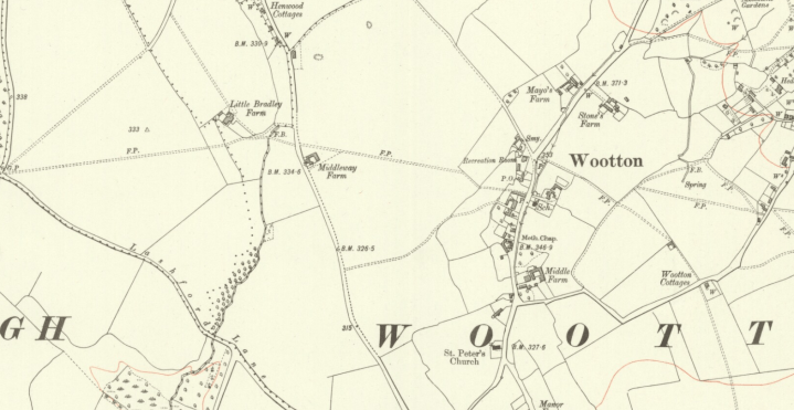 Wootton Parish Map 1922 Berkshire VI SW OS Six inch 4