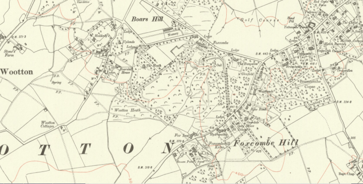Wootton Parish Map 1922 Berkshire VI SW OS Six inch 8