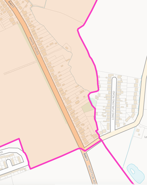 Wootton Parish Whitecross Southern Boundary