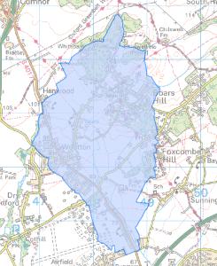 Wootton Parish Council near Abingdon boundary map