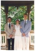 John Rasmussen, Mary (Rasmussen) Warner & Erik Warner, June 3, 1989
