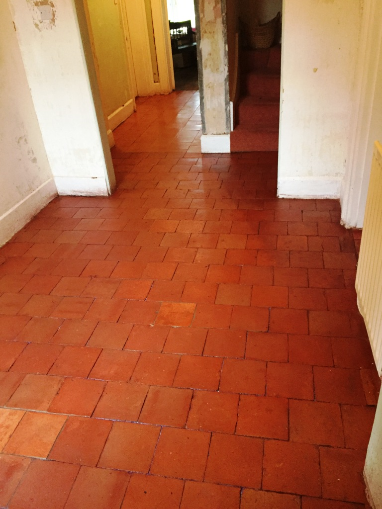 Period Quarry Tiled Floor After Restoration Great Witley