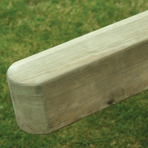 Smooth planed pine posts