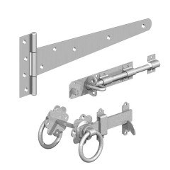 Field / Side Gate Kit and Ring Gate Latch (GALVANISED)