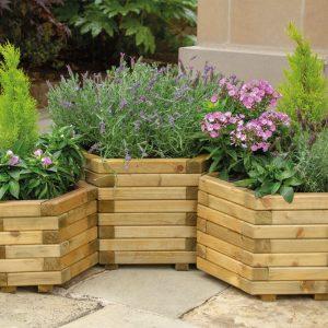 Berkley Hexagonal Planter (Set of three)