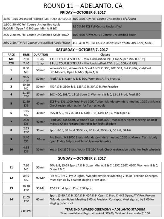 2017-Round-11-Weekend-Race-Schedule