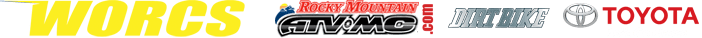 WORCS Yellow Letters Logo RMATVMC Dirt Bike Toyota