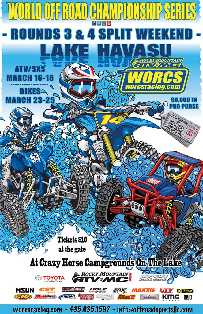 2018 Rnd 3 & 4 MC ATV SXS SPLIT WEEKEND RACE FLYER - CRAZY HORSE CAMPGROUND - LAKE HAVASU, AZ