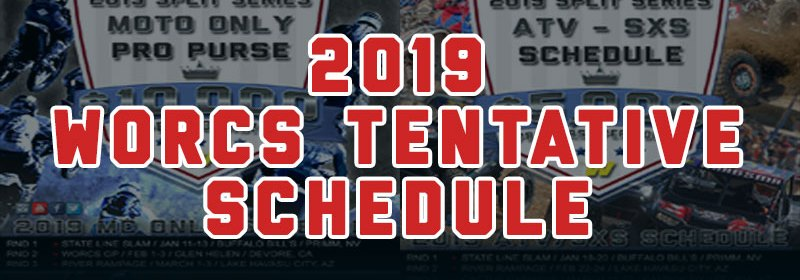 2019 Tentative WORCS Motorcycle ATV SXS Racing Schedule